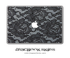 White & Black Lace MacBook Skin