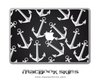 Black & White Anchor MacBook Skin
