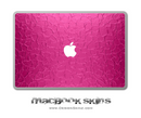 Pink Stamped Metal MacBook Skin