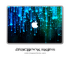 Neon Raindrops MacBook Skin