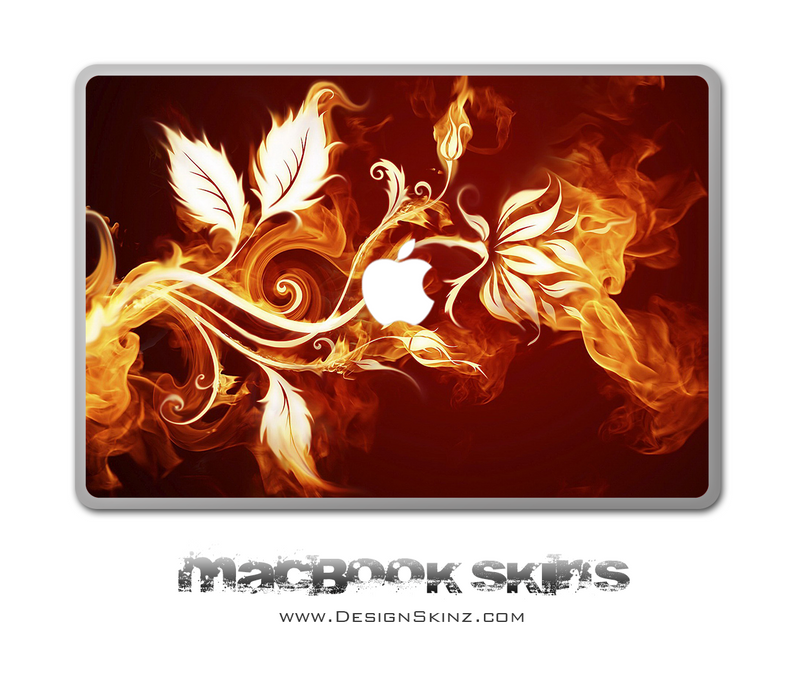 Flaming Branch MacBook Skin