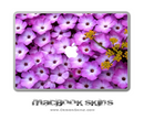Purple Flowers MacBook Skin