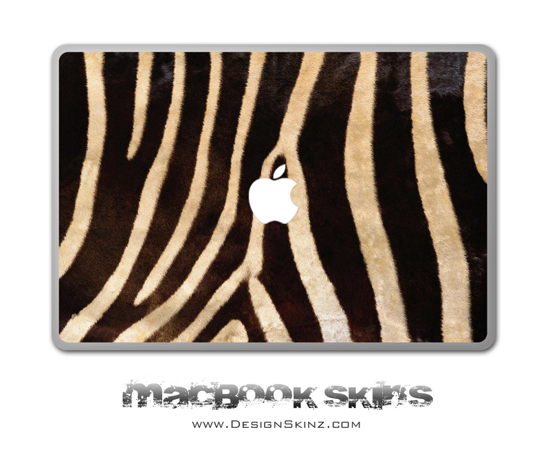 Real Zebra Print MacBook Skin