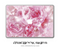 Magical Pink Flowers MacBook Skin