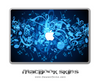 Glowing Music Notes MacBook Skin