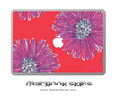 Abstract Watercolor Flowers MacBook Skin