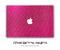 Pink Fabric MacBook Skin