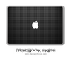 Black Plaid MacBook Skin
