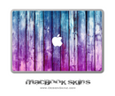 Blue & Pink Washed Wood MacBook Skin