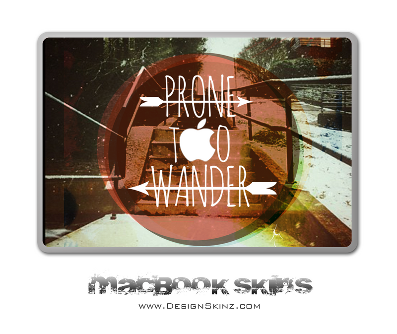 Prone To Wander MacBook Skin by Lauren Pyles