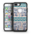 Walking Sacred Elephant Pattern V2 - iPhone 7 or 7 Plus Commuter Case Skin Kit