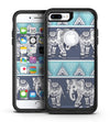 Walking Sacred Elephant Pattern - iPhone 7 or 7 Plus Commuter Case Skin Kit