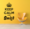 Keep Calm And Smile 2 Wall Decal
