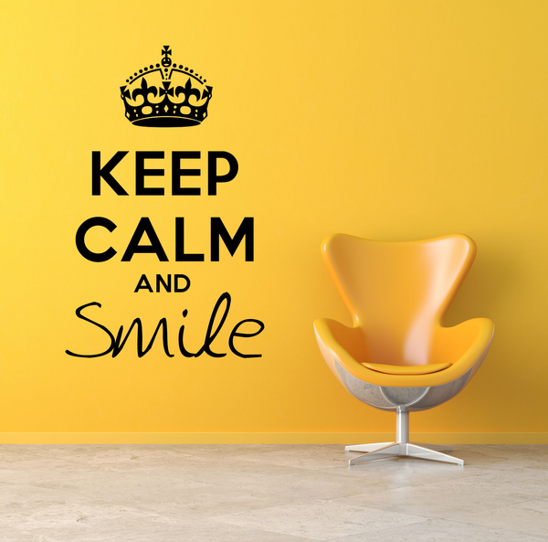 Keep Calm And Smile Wall Decal