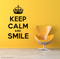 Keep Calm And Smile 3 Wall Decal