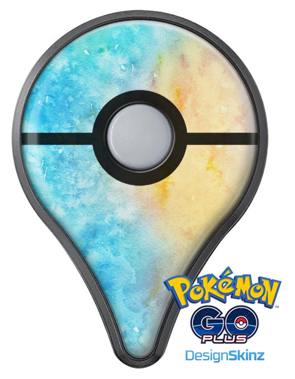 Washed Ocean 42 Absorbed Watercolor Texture Pokémon GO Plus Vinyl Protective Decal Skin Kit