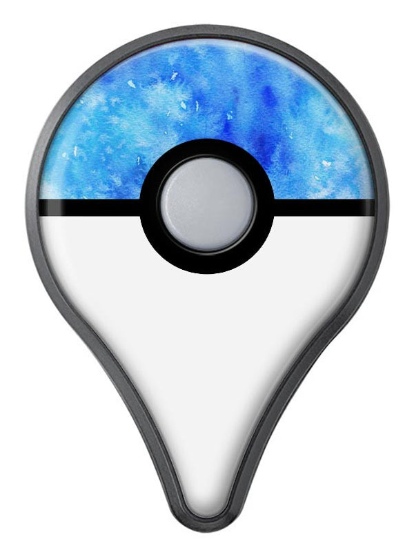 Washed Ocean Blue 402 Absorbed Watercolor Texture Pokémon GO Plus Vinyl Protective Decal Skin Kit