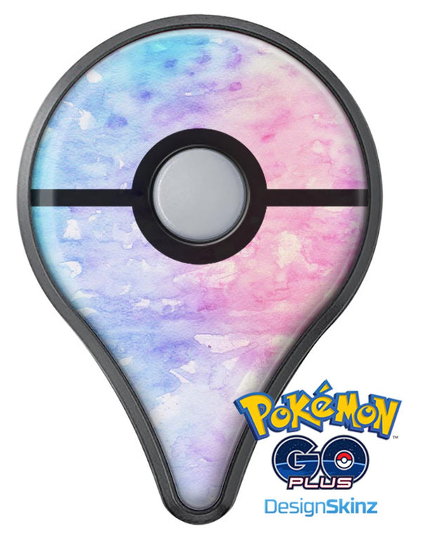 Washed Pink 4 Absorbed Watercolor Texture Pokémon GO Plus Vinyl Protective Decal Skin Kit