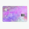 Washed Purple Absorbed Watercolor Texture - Premium Protective Decal Skin-Kit for the Apple Credit Card