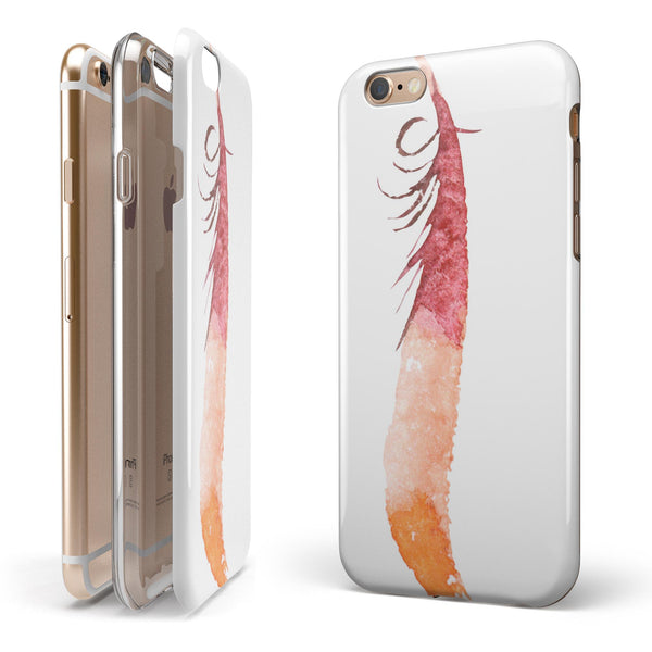 WaterColor DreamFeathers v4 iPhone 6/6s or 6/6s Plus 2-Piece Hybrid INK-Fuzed Case
