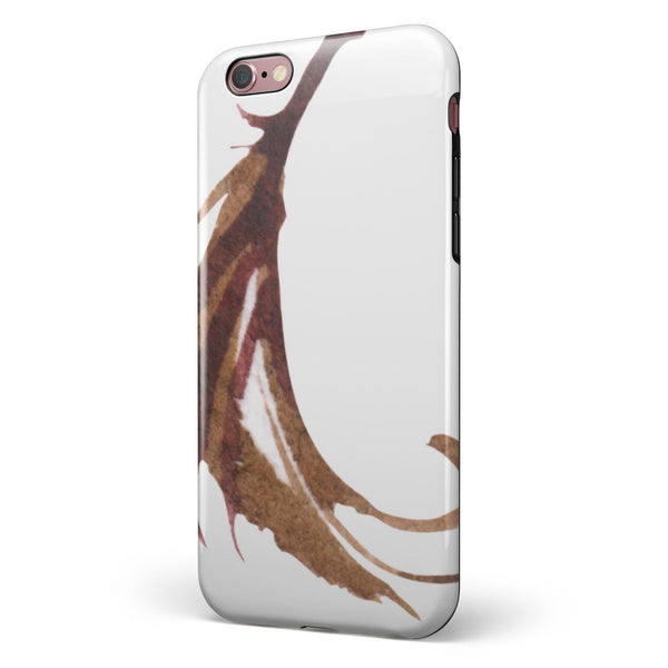 WaterColor DreamFeathers v5 iPhone 6/6s or 6/6s Plus 2-Piece Hybrid INK-Fuzed Case