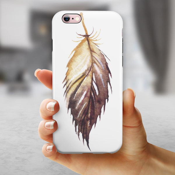 WaterColor DreamFeathers v6 iPhone 6/6s or 6/6s Plus 2-Piece Hybrid INK-Fuzed Case