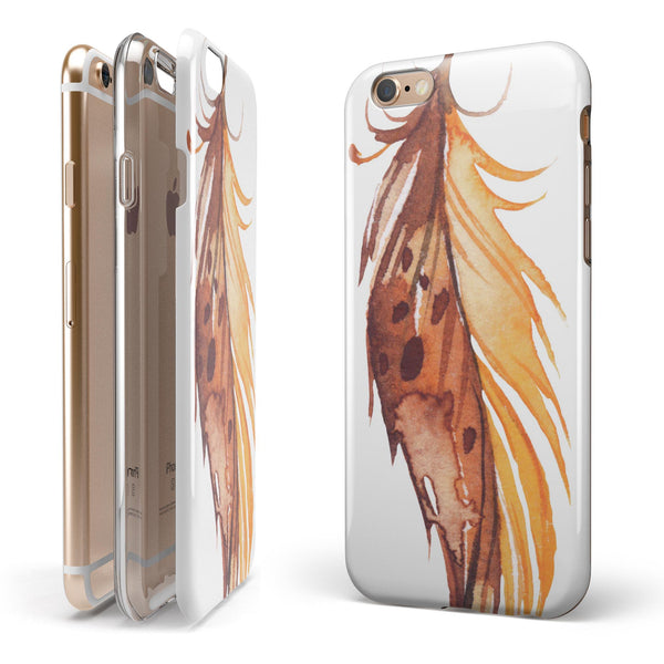 WaterColor DreamFeathers v7 iPhone 6/6s or 6/6s Plus 2-Piece Hybrid INK-Fuzed Case