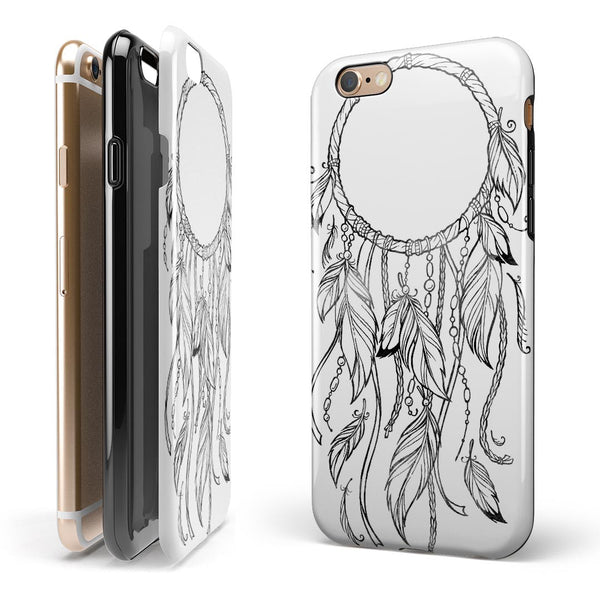 WaterColor Dreamcatchers v10 iPhone 6/6s or 6/6s Plus 2-Piece Hybrid INK-Fuzed Case