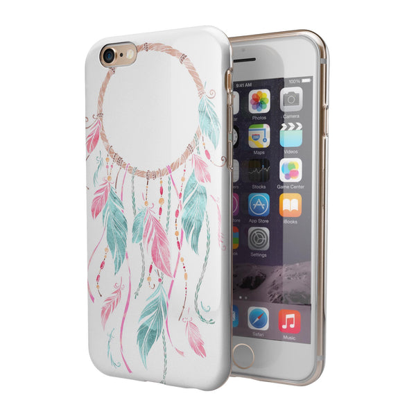 WaterColor Dreamcatchers v6 iPhone 6/6s or 6/6s Plus 2-Piece Hybrid INK-Fuzed Case