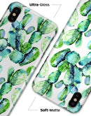 Watercolor Cactus Bloom V1 - iPhone X Clipit Case