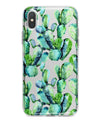 Watercolor Cactus Bloom V1 - Crystal Clear Hard Case for the iPhone XS MAX, XS & More (ALL AVAILABLE)