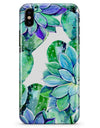 Watercolor Cactus Succulent Bloom V12 - iPhone X Clipit Case
