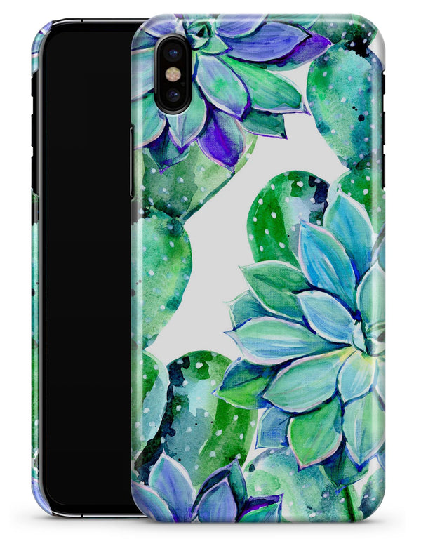Watercolor Cactus Succulent Bloom V13 - iPhone X Clipit Case