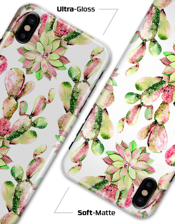 Watercolor Cactus Succulent Bloom V2 - iPhone X Clipit Case