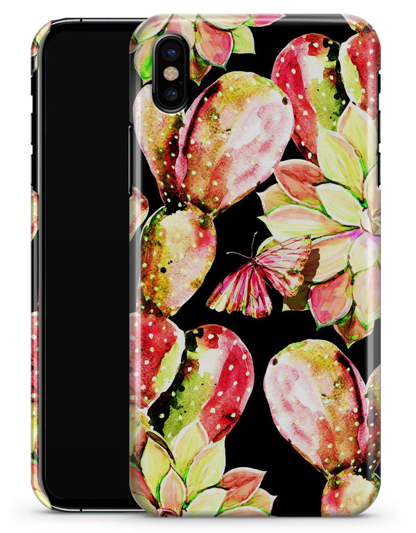 Watercolor Cactus Succulent Bloom V5 - iPhone X Clipit Case