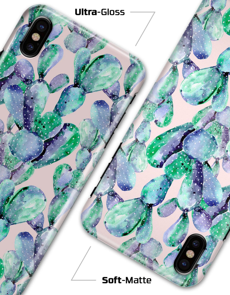 Watercolor Cactus Succulent Bloom V9 - iPhone X Clipit Case