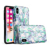 Watercolor Cactus Succulent Bloom V9 - iPhone X Swappable Hybrid Case