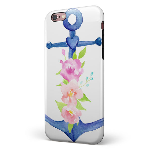 Watercolor Floral Anchor iPhone 6/6s or 6/6s Plus 2-Piece Hybrid INK-Fuzed Case