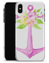 Watercolor Floral Anchor Sprout - iPhone X Clipit Case