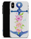 Watercolor Floral Anchor - iPhone X Clipit Case