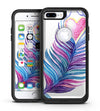 Watercolor Heart Feather - iPhone 7 or 7 Plus Commuter Case Skin Kit