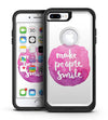 Watercolor Pink Make People Smile - iPhone 7 or 7 Plus Commuter Case Skin Kit