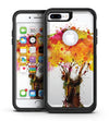 Watercolor Splattered Tree - iPhone 7 or 7 Plus Commuter Case Skin Kit