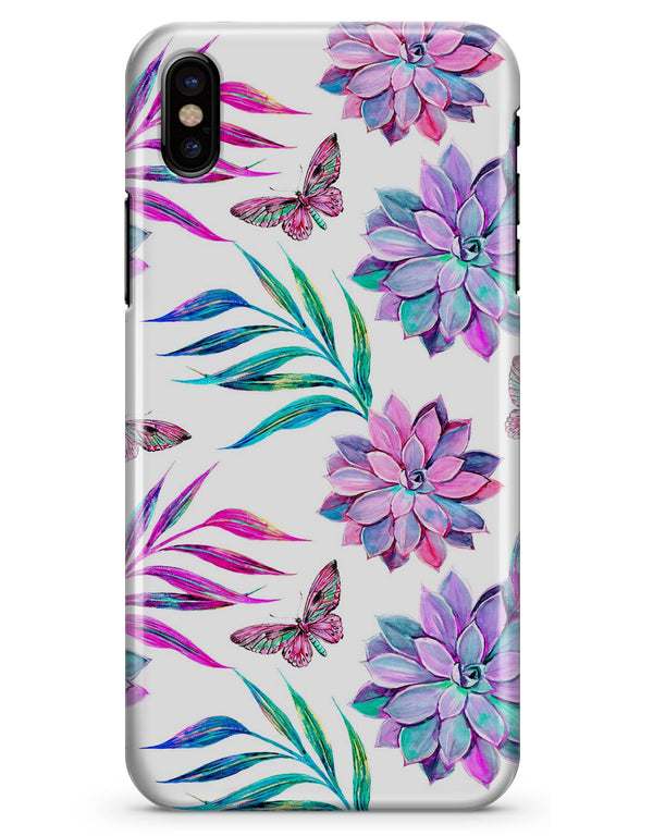 Watercolor Succulent Bloom V17 - iPhone X Clipit Case