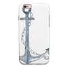 Watercolored Grungy Chained Anchor iPhone 6/6s or 6/6s Plus 2-Piece Hybrid INK-Fuzed Case
