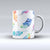 The Watercolour Feather Floats ink-Fuzed Ceramic Coffee Mug