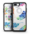 Watercolour Feather Floats - iPhone 7 or 7 Plus Commuter Case Skin Kit