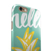 Well Hello Pineapple iPhone 6/6s or 6/6s Plus 2-Piece Hybrid INK-Fuzed Case