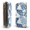 Whispy Leaves of Blue iPhone 6/6s or 6/6s Plus 2-Piece Hybrid INK-Fuzed Case