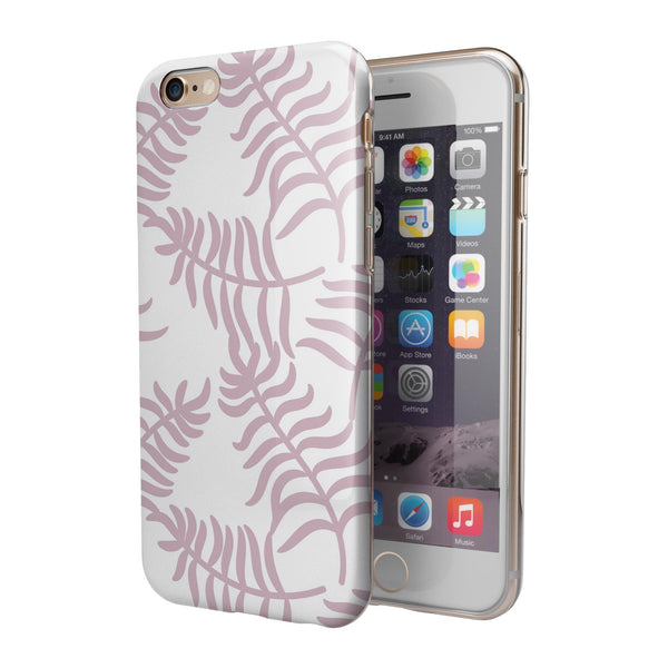 Whispy Leaves of Pink iPhone 6/6s or 6/6s Plus 2-Piece Hybrid INK-Fuzed Case